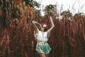 Картинка девушка, природа, Stretch, Alexandra Cameron
