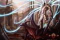 Картинка монстр, меч, замок, Tyrael, магия, арт, Diablo 3
