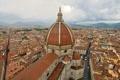 Картинка небо, облака, дома, Италия, Флоренция, улицы, квартал