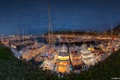 Картинка panorama, night, yacht, monaco, port, monte carlo, hercule