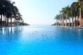 Картинка бассейн, пальмы, океан