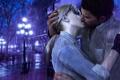 Картинка дождь, поцелуй, rain, Resident Evil, kiss, fanart, Jill Valentine