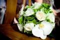 Картинка белые, розы, букет, орхидея, цветы