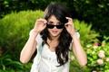 Картинка девушка, очки, селена