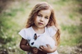 Картинка настроение, кролик, девочка