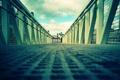 Картинка дорога, небо, мост, город