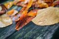 Картинка листья, макро, капля