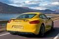 Картинка авто, Porsche, в движении, задок, Cayman S