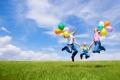 Картинка шарики, радость, природа, дети, праздник, семья