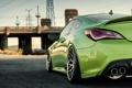 Картинка green, купе, tuning, hyundai, хёндай, stance, genesis