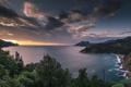 Картинка sea, coast, sunset, mountain, corsica