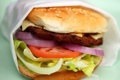 Картинка lettuce, Hamburger, meat, bread