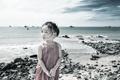 Картинка море, настроение, девочка