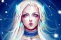 Картинка девушка, лицо, волосы, арт, белые, art