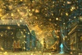 Картинка деревья, радость, природа, город, люди, девушки, дома