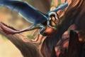 Картинка существо, дупло, Orm_Irian, арт, дракон, орехи, дерево