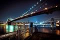 Картинка USA, Манхэттенский, East River, Ист-Ривер, Нью-Йорк, подсветка, New York City