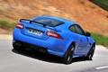 Картинка синий, ягуар, jaguar, спойлер, xkr-s, икскр-с, суперкар