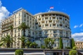 Картинка Monte Carlo, здание, дом, Монако, пальмы, флаг