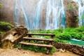 Картинка вода, скамейка, природа, река