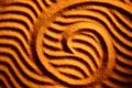 Картинка песок, волны, линии, природа, иероглиф