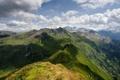 Картинка зелень, облака, горы, тени, Austria, Alps