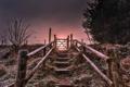 Картинка пейзаж, закат, лестница