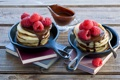 Картинка малина, шоколад, pancakes, оладьи