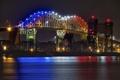 Картинка огни, ночь, Мичиган, Marie International Bridge