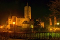 Картинка ночь, город, фото, замок, Германия, фонари, Mayen Genovevaburg