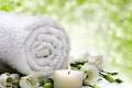 Картинка relax, flowers, bath, спа, candle, spa, towel