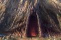 Картинка гора, воин, арт, пещера, вход, Lord of The Rings, War In The North