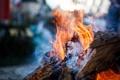Картинка огонь, дрова, костёр