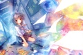 Картинка рисунок, аниме, карандаши, девочка, портфель
