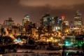 Картинка ночь, огни, Канада, небоскрёбы, провинция Альберта, Edmonton, Э́дмонтон