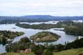 Картинка Colombia, река, Guatape, Сверху, природа, пейзаж
