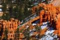 Картинка снег, деревья, горы, скалы, Юта, США, Bryce Canyon National Park