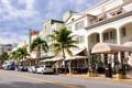 Картинка город, америка, магазины, улица, street, пальмы