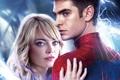 Картинка блондинка, костюм, Emma Stone, Andrew Garfield, Новый Человек-паук, Эндрю Гарфилд, Эмма Стоун