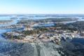 Картинка зима, природа, город, озеро, фото, остров, Швеция