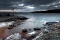 Картинка пейзаж, ночь, берег, море