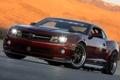 Картинка закат, горы, тюнинг, Chevrolet, Camaro, шевроле, мускул кар
