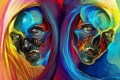 Картинка colors, style, effects, heads