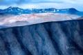 Картинка снег, горы, люди, Исландия, Hverfjall