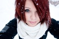Картинка снежинки, улыбка, шарф
