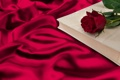 Картинка роза, книга, red, rose, складки, romantic, silk