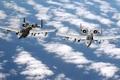 Картинка Облака, Самолет, США, Авиация, ВВС, A-10, Thunderbolt
