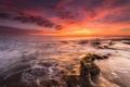 Картинка закат, пейзаж, горизонт, небо, море