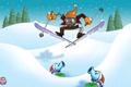 Картинка цветок, снег, зомби, лыжник, Plants vs Zombies