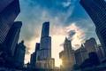 Картинка Вечер, Чикаго, Небоскребы, Здания, Америка, Иллинойс, Chicago